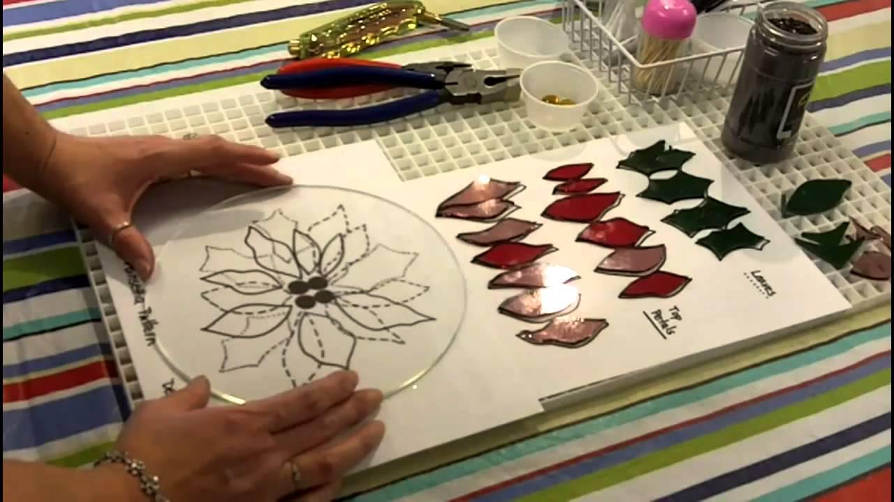 Fused Glass Poinsettia Bowl Youtube
