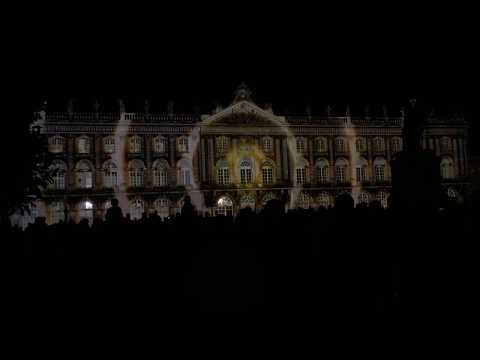 Laser and Light Show France Nancy Place Stanislas 2016