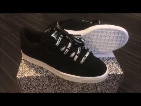 Puma suede black/white X Trapstar London