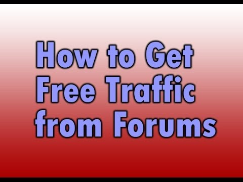 How to Get Free Traffic from Forums Online