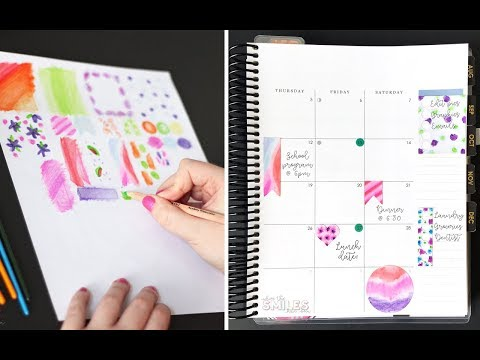 How to Make DIY Watercolor Planner Stickers with Watercolor Pencils
