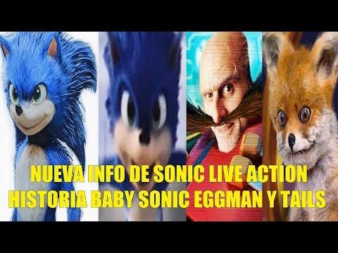 Nueva Info de Sonic La Pelicula Live Action La Historia Baby Sonic Eggman y Tails