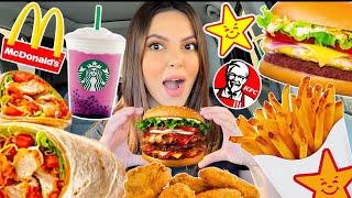 تحدي السيارة اللي قدامي تحدد أكلي في  رمضان!!!😱 *دمااااااار*...😳