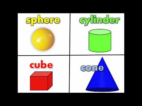 3D Shapes I Know solid shapes song including sphere, cylinder, cube, cone, and pyramid