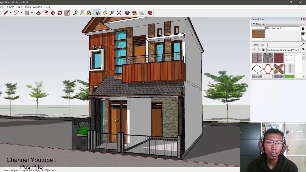 Desain Rumah Cantik Ukuran 6x10 2 Lantai, 3 Kamar Tidur ...