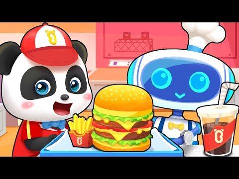 神奇的漢堡店| 兒歌童謠 | 卡通動畫 | 寶寶巴士 | Learn Chinese | BabyBus
