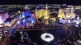DJI Inspire 1 Las Vegas Strip Bellagio Fountains and Caesars Palace Flight 3/24/2015