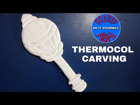 Thermocol carving done by abhi art...