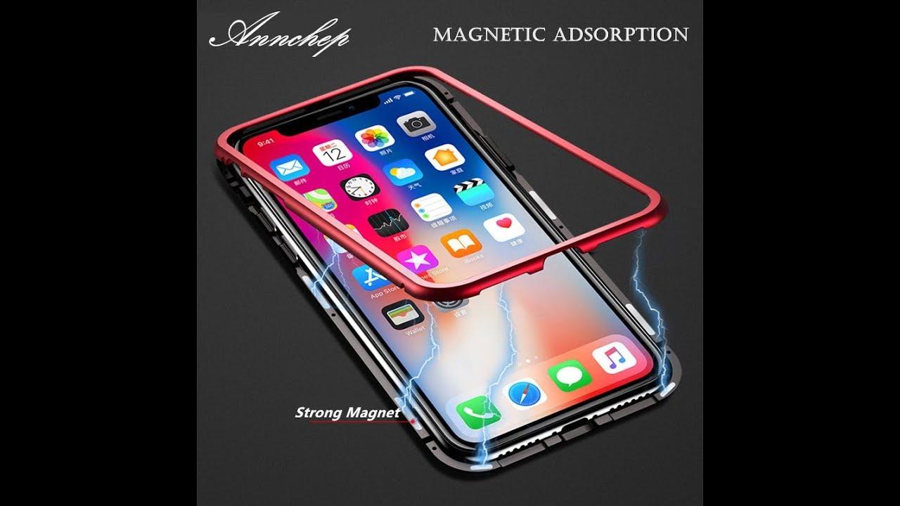 watch 33bb8 f9475 Magnetic Adsorption Metal Flip Luxury Phone Case - Magnetic Adsorption  metal flip case