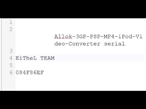 allok 3gp psp mp4 ipod video converter crack gratuit