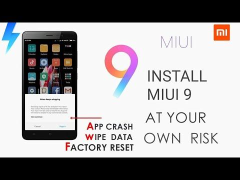 Miui 9 Not Responding   Never Update to MIUI 9