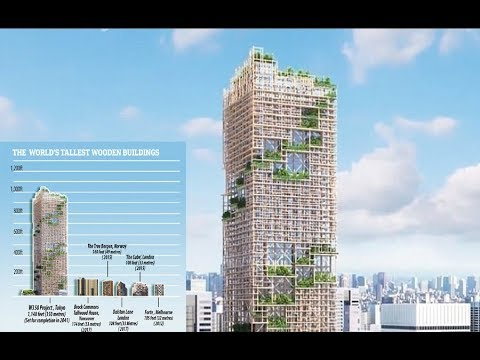 World's tallest WOODEN skyscraper reaching 1,148ft will be built in Tokyo in 2041