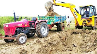 Mahindra 585 di power plus Tractor with fully loaded trolley | Mahindra tractor power | CFV |
