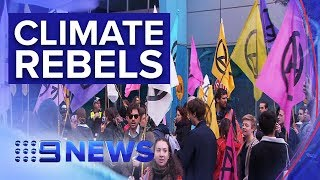 Climate rebels go to new lengths in Melbourne | Nine News Australia