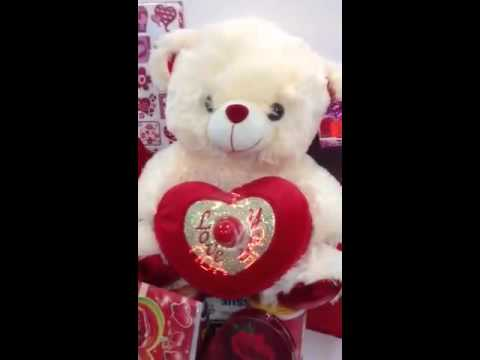 Musical Valentines day teddy bear