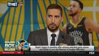 FIRST THINGS FIRST | Nick Wright DISAPPOINTED Steph Curry miss potential game-winning NBA title