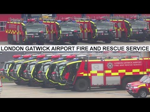 London Gatwick Airport Fire and Rescue Service -  Flughafenfeuerwehr London einsatzbereit!
