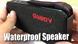 Portable Waterproof Wireless Bluetooth Speaker with 10W Stereo Sound by Hapyia review