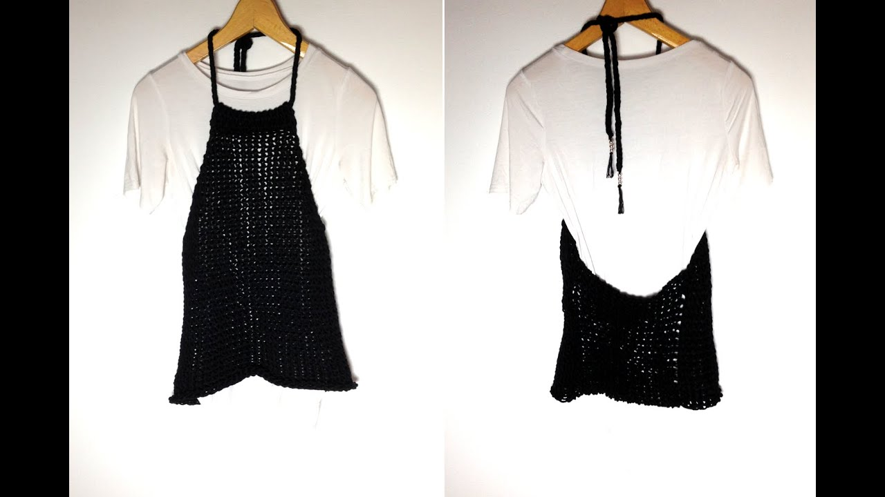 How To Loom Knit A Halter Neck Top Diy Tutorial Youtube