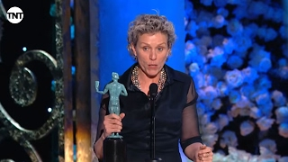 Frances McDormand I SAG Awards Acceptance Speech 2015 I TNT