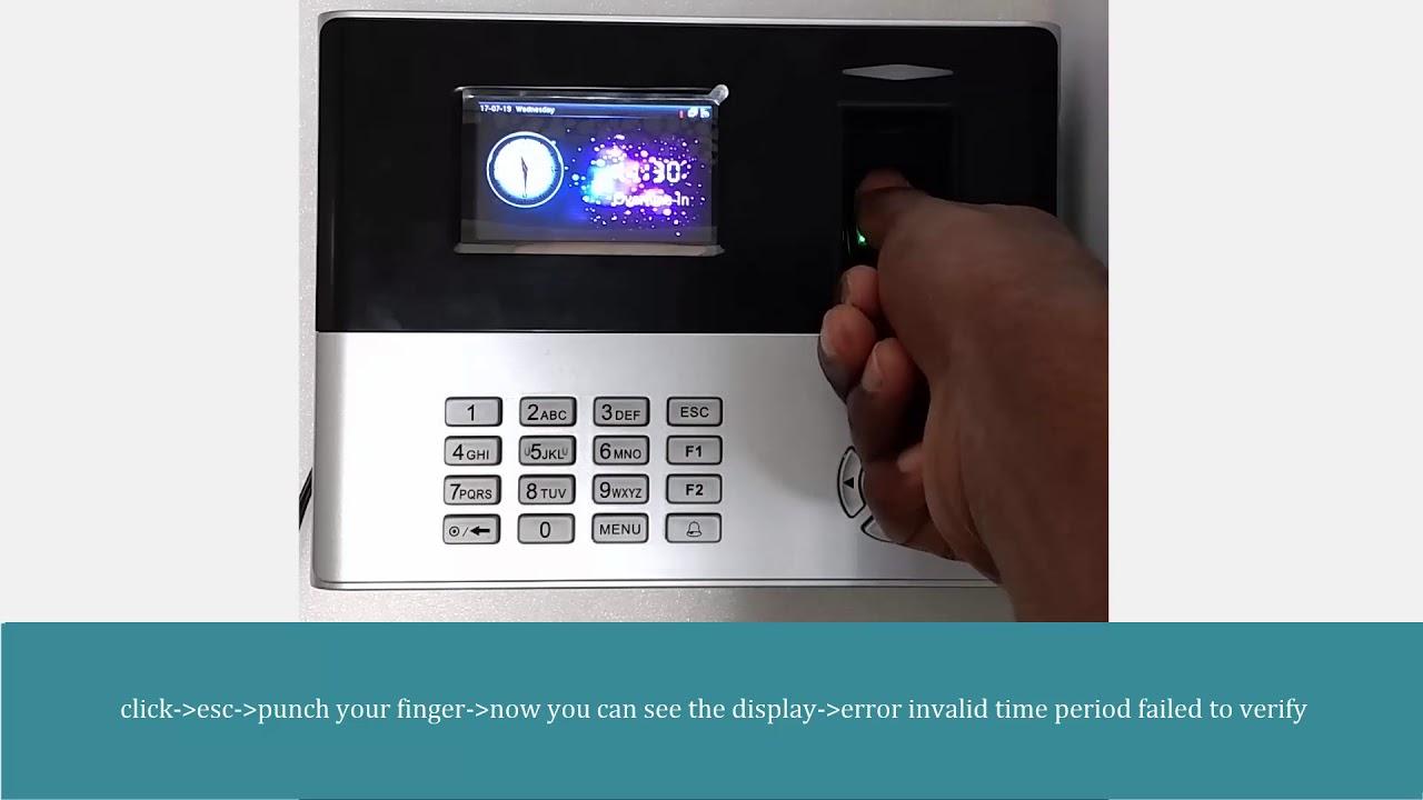 Save illegal fingerprint option in eSSL x990