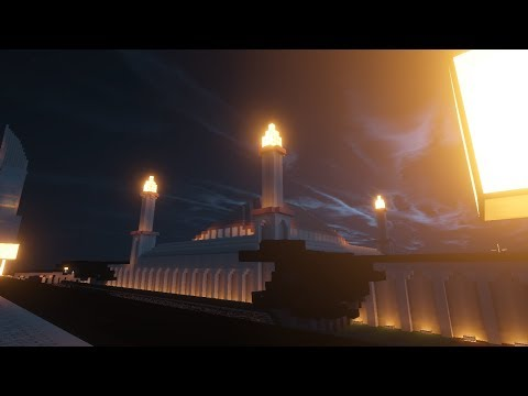 Wow........... Masjid bercahaya ini di Minecraft?