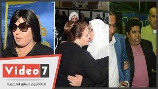 فيفى عبده و دلال عبد العزيز و عدوية و سامح الصريطى بعزاء سيد زيان