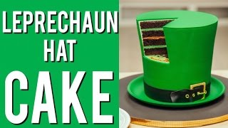 How to Make A LEPRECHAUN HAT out of CAKE! The ULTIMATE St. Patricks Day Cake!