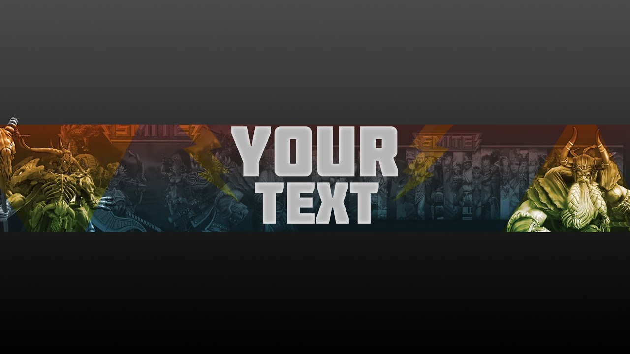 Smite banner Template - YouTube