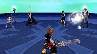 Kingdom Hearts 2: Cloud, Squall, Tifa, Yuffie Boss Fight (PS3 1080p)