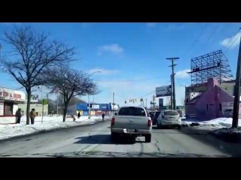 DETROIT, MICHIGAN, U.S.A.: Fenkell Ave to Puritan Ave to Sheffield Ave then McNichols Ave