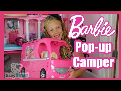Thumbnail: Barbie Pop Up Camper Unboxing and Review by Junior Gizmo