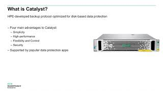 Defining HPE StoreOnce Catalyst: Backup Appliance and Data Protection Solution