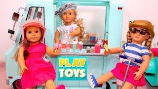 frozen elsa anna shop from ice cream truck for dolls ag og toys for kids video