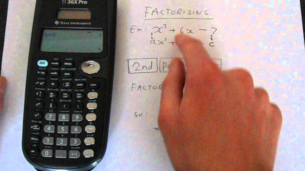 TI 36X Pro Factorise Equation (Complete The Square)