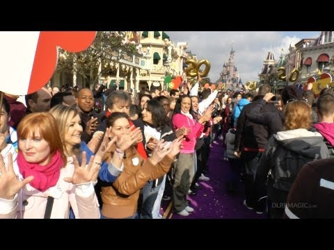 12 April 2012 Disneyland Paris 20th Anniversary Ceremony & Cast Member Flashmob HD