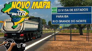 NOVO MAPA PARA ETS2 - MAPA BRASIL RODOVIAS - REGIÃO NORDESTE - VOLANTE G27