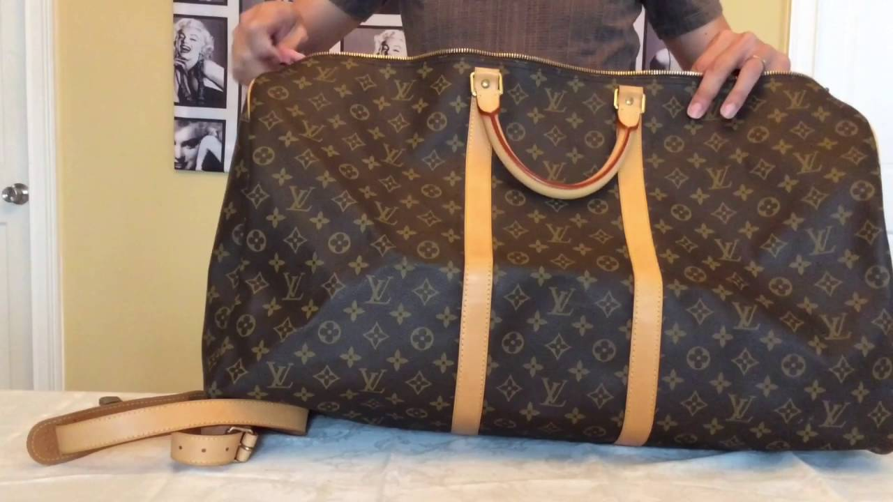 f496c3366cc8 Louis Vuitton Collection Keepall Bandouliere 60 Monogram - YouTube