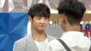 150609 Minho being kissed by Lee JiHoon