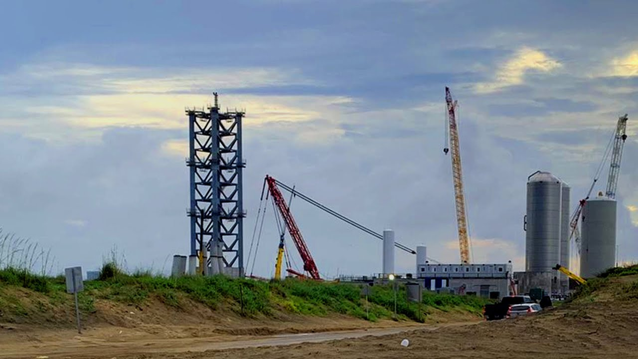 SpaceX's Starship Orbital Launch Tower Section Stacking | June 13, 2021 | Time Lapse