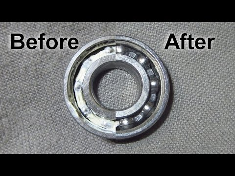 The Easiest way I've found to clean bearings.