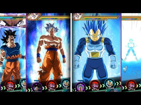 SSB EVOLUTION VEGETA & MASTERED ULTRA INSTINCT GOKU TRANSFORM AT THE SAME TIME! DBZ Dokkan Battle