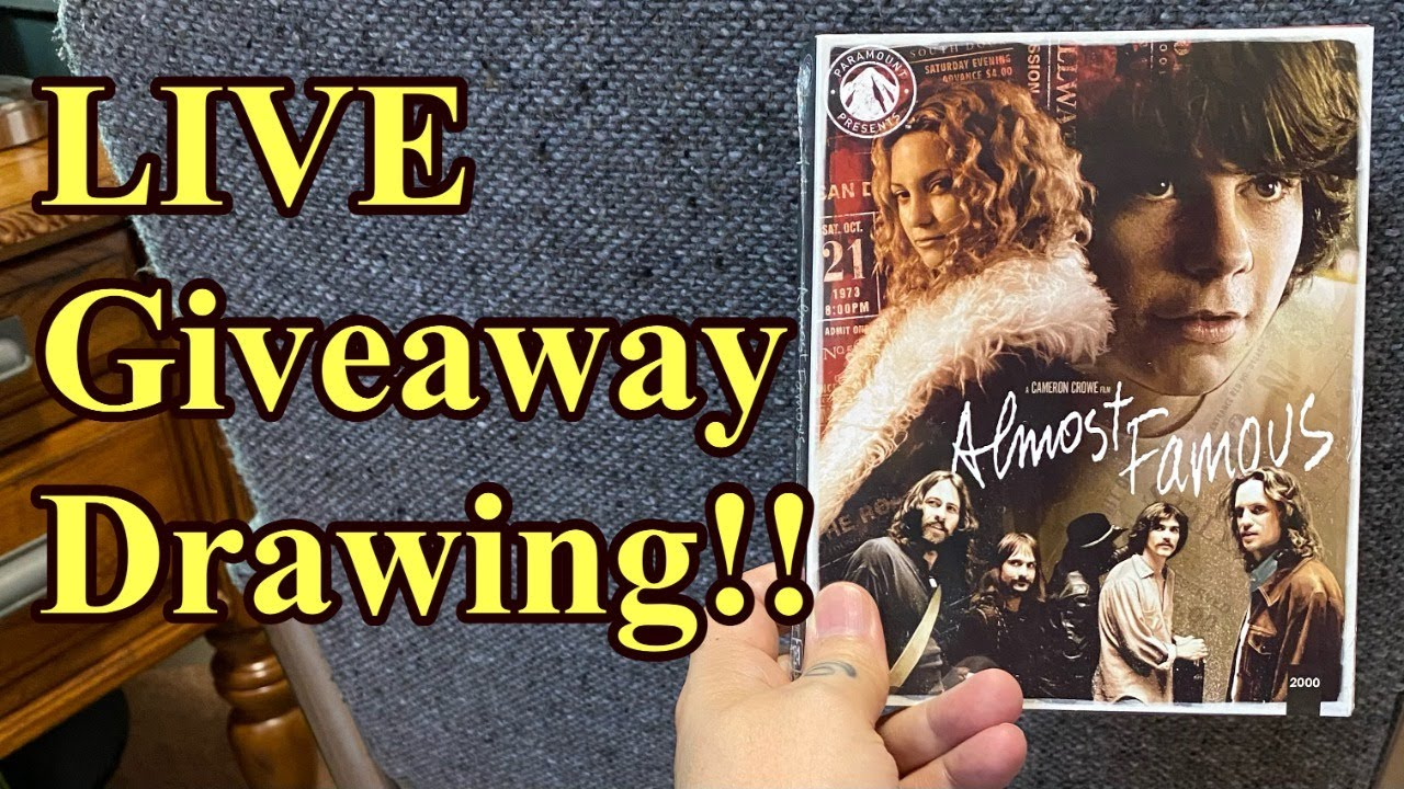 GIVEAWAY Drawing-- LIVE!!