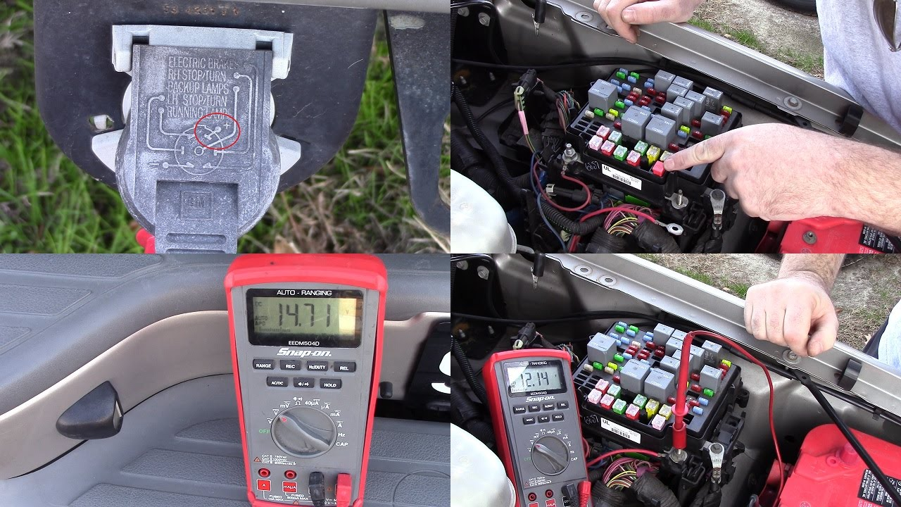 2004 Tahoe No Power To Trailer Battery Feed In 7 Pin Connector Youtube