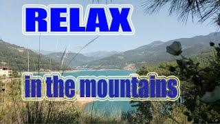 Relaxation Mountains Relax Summer Birds Singing релаксация в горах на берегу озера. Turkey Alanya