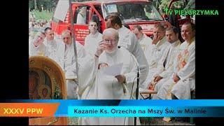 XXXV PPW - Malin - Msza Św. - Kazanie ks. Orzecha - 2015-08-02