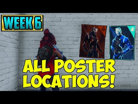 'Spray Over Different Carbide And/Or Omega Posters' ALL LOCATIONS! Fortnite Week 6 Challenges!