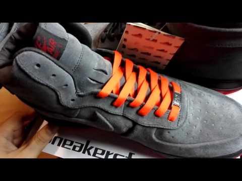 Nike Air Force 1 High VT PRM Suede Anthracite Orange