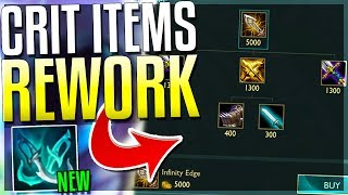 *NEW* CRIT ITEMS REWORKED! 5,000 GOLD IE, NEW PHANTOM DANCER & MORE! - League of Legends