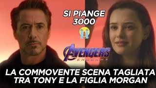 Avengers - Endgame: Ecco la COMMOVENTE scena tagliata con TONY STARK e MORGAN STARK - Reaction 😭😭